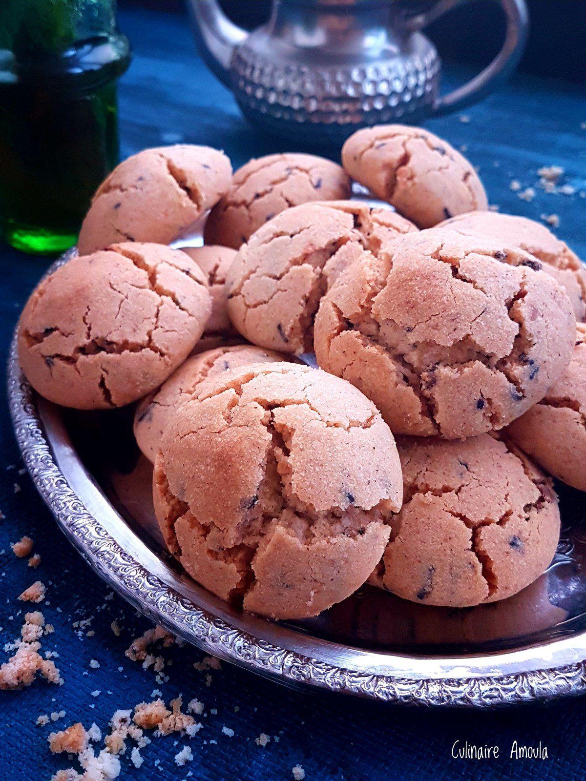 Ghriba bahla aux amandes et au vermicelle de chocolat