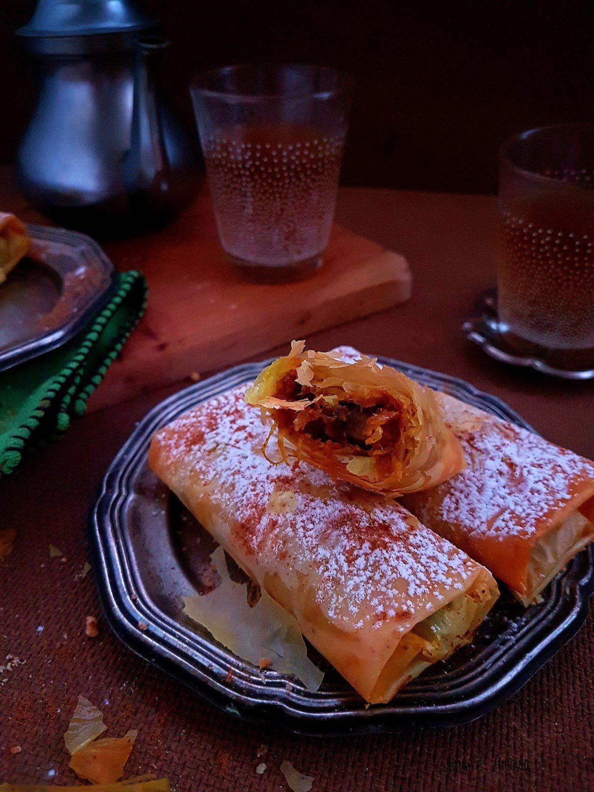 """Cigares de foie au oignon confit """"Tfaya"""""""
