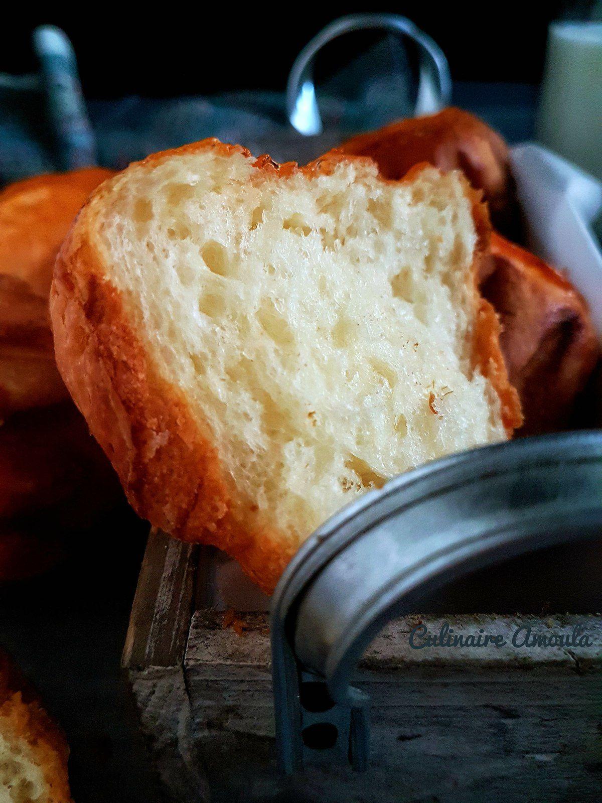 Brioches moelleuses au fromage et à la confiture
