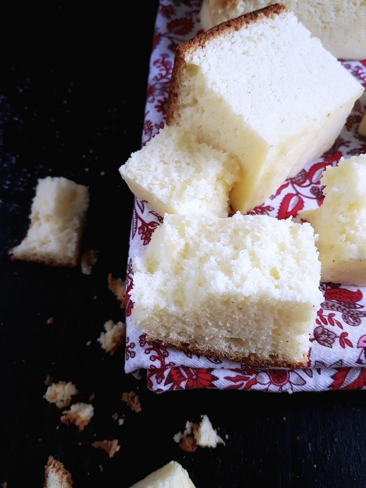 Le Sponge cake japonais comme du coton