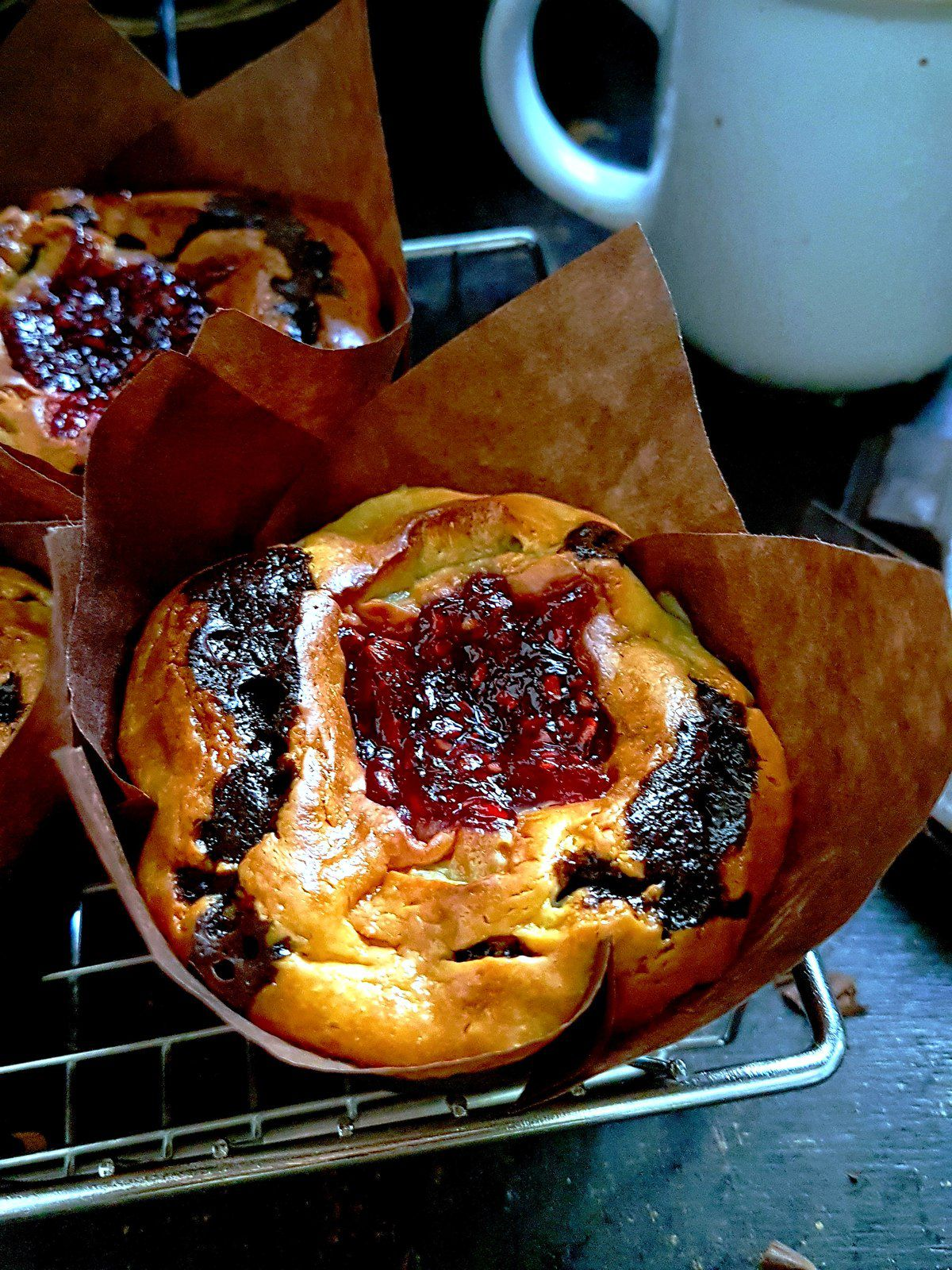 Cheesecake brownie muffins