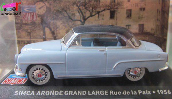FASCICULE N°1 SIMCA ARONDE GRAND LARGE RUE DE LA PAIX 1956 IXO 1/43
