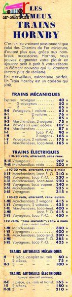 CATALOGUE HORNBY 1939