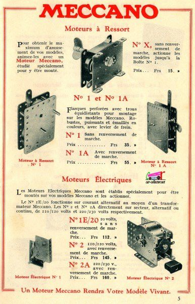 CATALOGUE MECCANO 1933