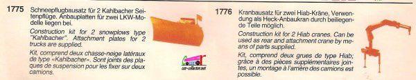 CATALOGUE ROCO 1986 - KATALOG ROCO MINIATUR MODELL