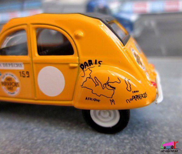 CITROEN 2CV RAID PARIS PERSEPOLIS 1971 RACING RETRO NOREV 3 INCHES