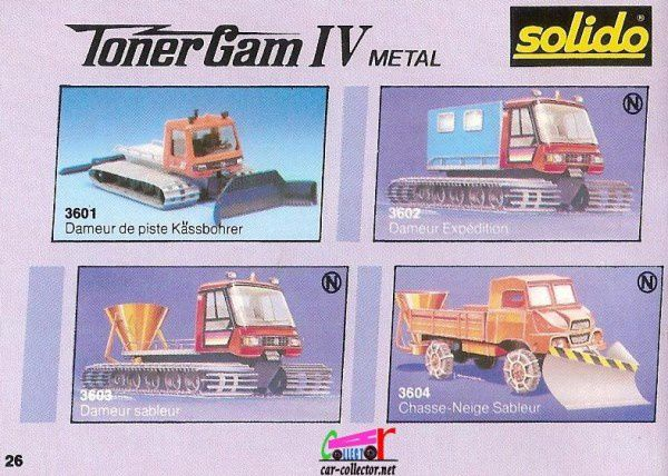 CATALOGUE SOLIDO 1987