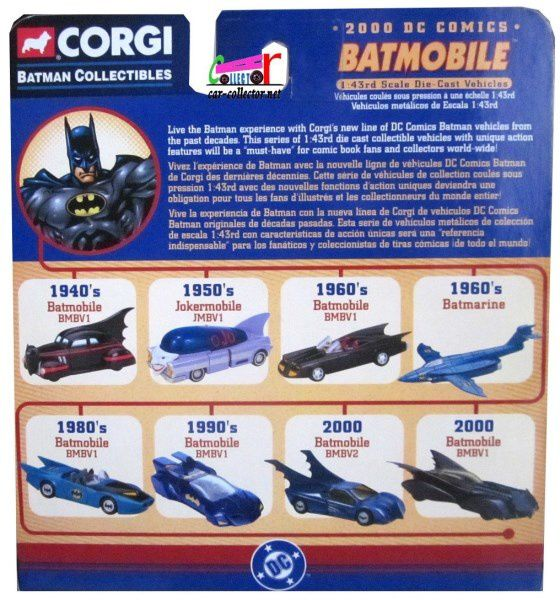 BATMOBILE 2000 DC COMICS CORGI 1/43 BMBV2