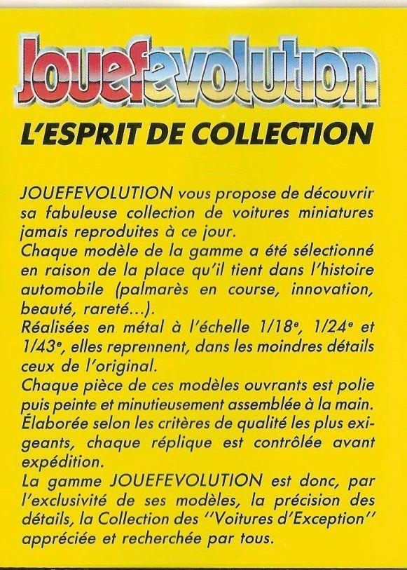 CATALOGUE JOUEF EVOLUTION 1982