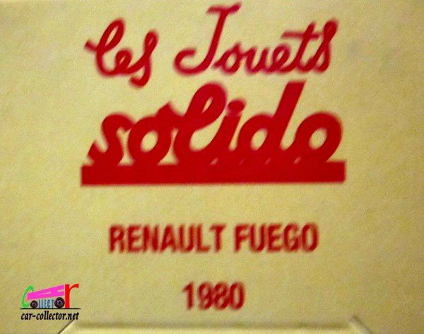 FASCICULE N°83 RENAULT FUEGO 1980 SOLIDO 1/43