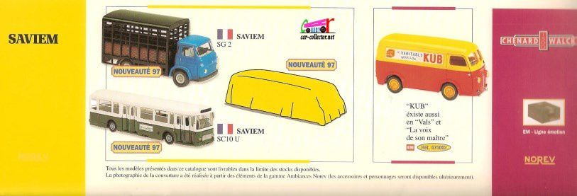 CATALOGUE NOREV 1997