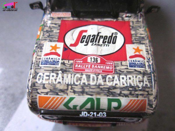 RENAULT 4 GTL RALLYE SAN REMO 1999 PINTO DOS SANTOS / SILVA INTERMARCHE SEGAFREDO SKID 1/43