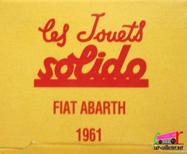 FASCICULE N°31 FIAT ABARTH 1961 SOLIDO 1/43