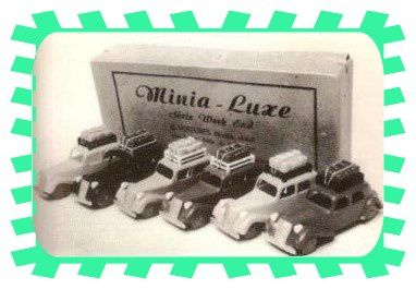 MINIA-LUXE, SERIE WEEK END, 6 VOITURES MODELE REDUIT INCASSABLE ININFLAMABLE.