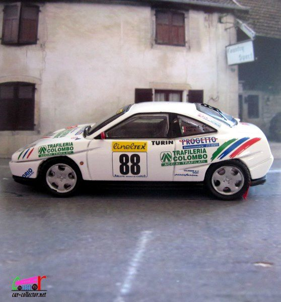 FIAT COUPE NUMERO 88 RALLYE MONTE CARLO 2000 TOP MODEL 1/43