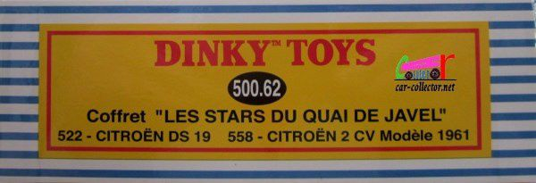 COFFRET COLLECTOR LES STARS DU QUAI DE JAVEL 2CV CITROEN ET DS 19 DINKY REEDITION ATLAS 1/43