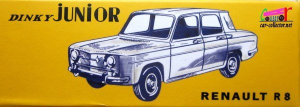 RENAULT R8 DINKY TOYS REEDITION ATLAS 1/43