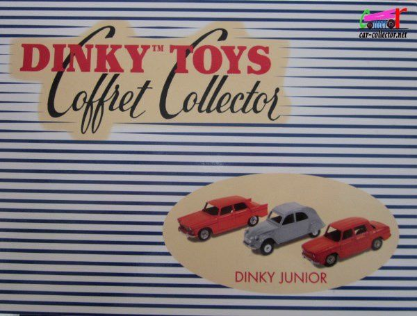 COFFRET COLLECTOR DINKY JUNIOR CITROEN 2CV PEUGEOT 404 RENAULT R8 REEDITION ATLAS 1/43