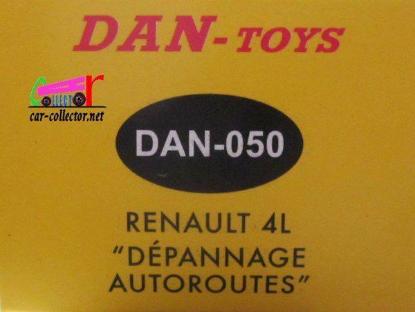 RENAULT 4L DEPANNAGE AUTOROUTES DAN-TOYS 1/43