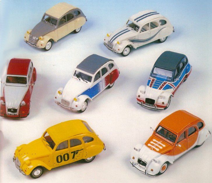 DOCUMENT: LES CITROEN 2CV SERIES LIMITEES AU 1/43