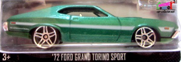 72 FORD GRAN TORINO SPORT FAST 1 FURIOUS HOT WHEELS 1/64