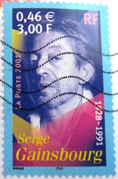 TIMBRE POSTE SERGE GAINSBOURG 1928 - 1991
