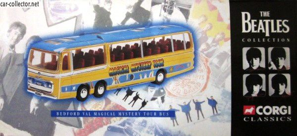 AUTOBUS BEDFORD VAL MAGICAL MYSTERY TOUR BUS THE BEATLES CORGI 1/36