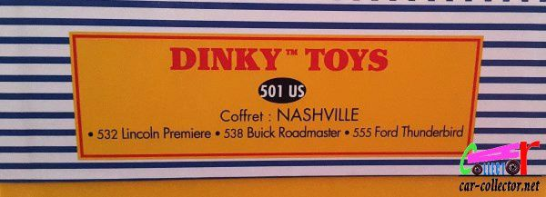 COFFRET COLLECTOR NASHVILLE DINKY TOYS REEDITION ATLAS 1/43
