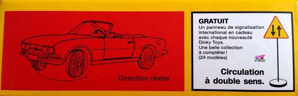 FASCICULE N°78 PEUGEOT 504 CABRIOLET DINKY TOYS REEDITION ATLAS