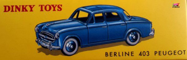 PEUGEOT 403 BERLINE DINKY TOYS REEDITION ATLAS 1/43
