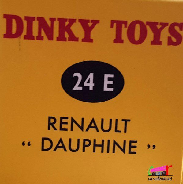 RENAULT DAUPHINE DINKY TOYS REEDITION ATLAS 1/43