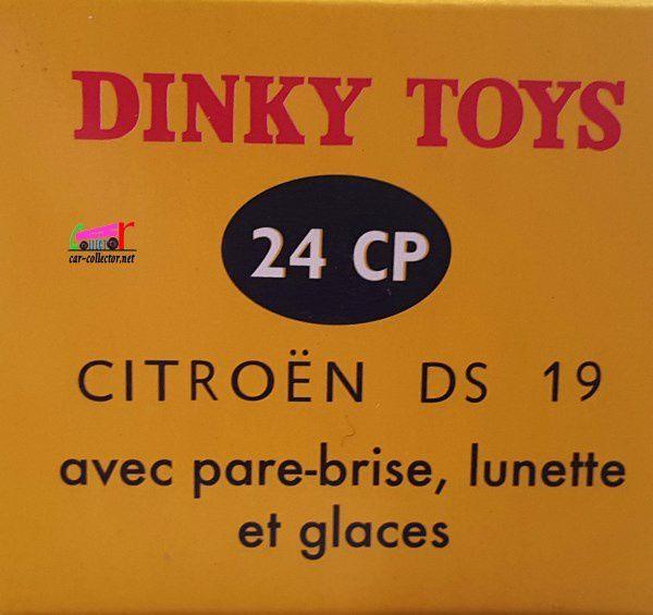 CITROEN DS 19 DINKY TOYS REEDITION ATLAS 1/43