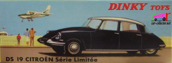 CITROEN DS 19 NOIRE DINKY TOYS REEDITION ATLAS 1/43