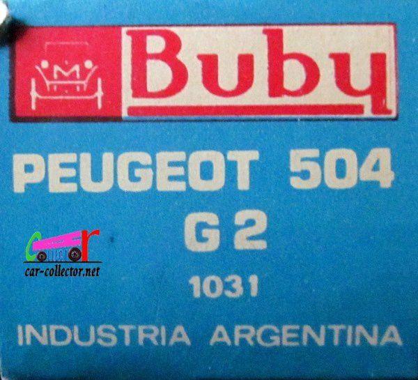 PEUGEOT 504 RALLYE G2 BUBY 1/43
