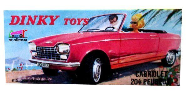 PEUGEOT 204 CABRIOLET 1967 DINKY TOYS PAR MECCANO TRIANG 1/43
