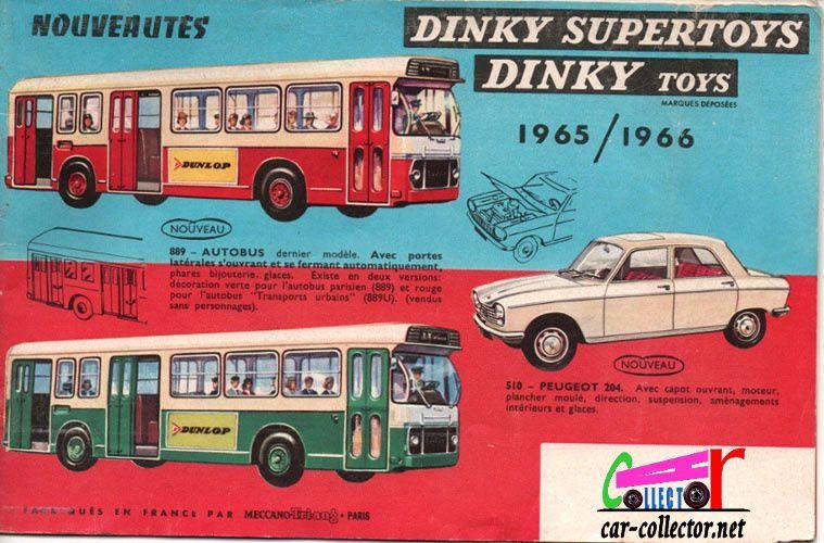 CATALOGUE DINKY TOYS 1965 / 1966