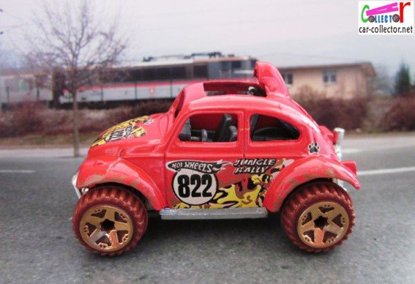 VW COX BAJA BUG HOT WHEELS 1/64 BAJA BEETLE VOLKSWAGEN COCCINELLE