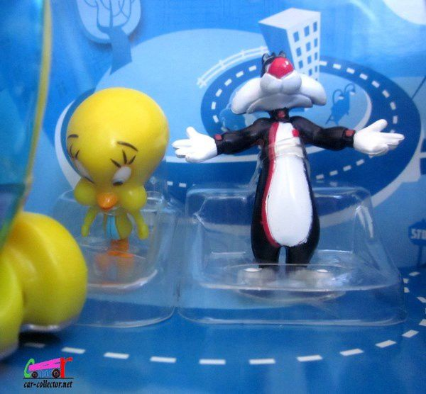 TITI ET GROSMINET SYLVESTER CATCHER VAN & TWEETY CITY SPEEDER MAJORETTE