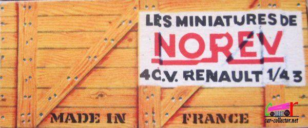 RENAULT 4CV VERT LES MINIATURES DE NOREV 1/43