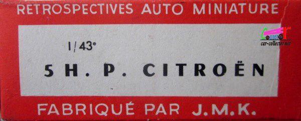 CITROEN 5HP 1924 1/43 RAMI MADE IN FRANCE JMK JARRY MALARTRE KOCH
