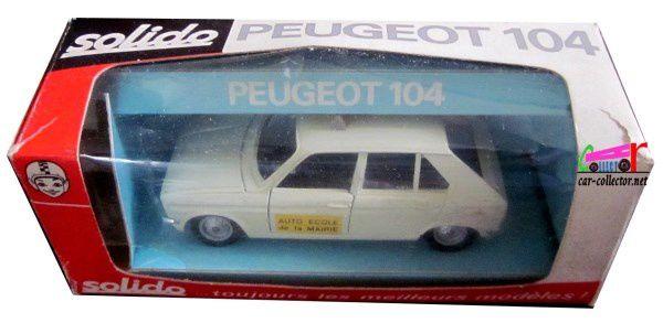 PEUGEOT 104 BERLINE AUTO ECOLE DE LA MAIRIE SOLIDO 1/43