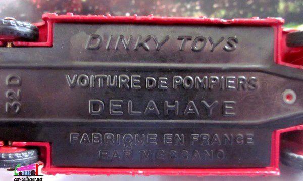 AUTO ECHELLE DE POMPIERS DELAHAYE TORPEDO DINKY TOYS 1/60