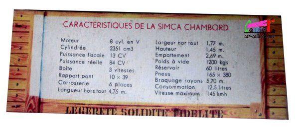 SIMCA CHAMBORD JAUNE CITRON ET NOIR NOREV 1/43