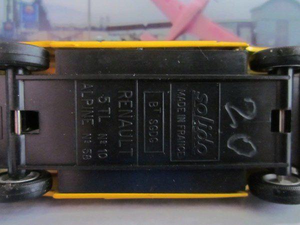 RENAULT 5 TL ALPINE 1976 MINIDRUG 52 SOLIDO 1/43