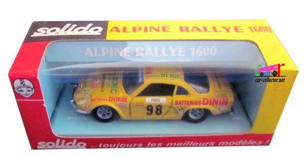 ALPINE RENAULT A110 1600 BERLINETTE TOUR DE FRANCE SOLIDO 1/43