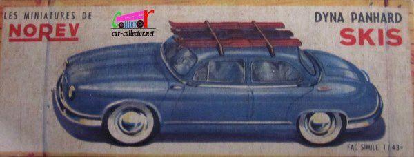 PANHARD DYNA Z 1955 AVEC SKIS NOREV 1/43