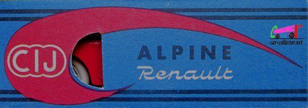 ALPINE RENAULT A106 ROUGE 1955 MILLE MILES C.I.J 1/43