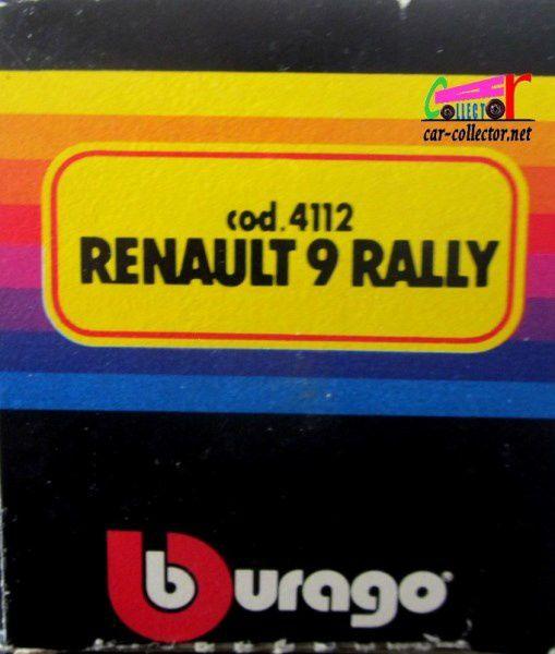 RENAULT 9 RALLYE BURAGO 1/43