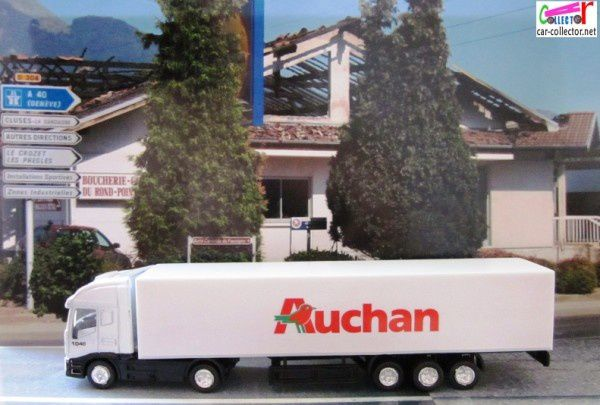 camion semi remorque iveco 1040 hypermarche auchan 1 100 car. Black Bedroom Furniture Sets. Home Design Ideas