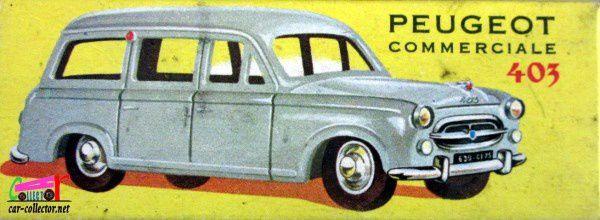 PEUGEOT 403 COMMERCIALE 1957 CIJ 1/43